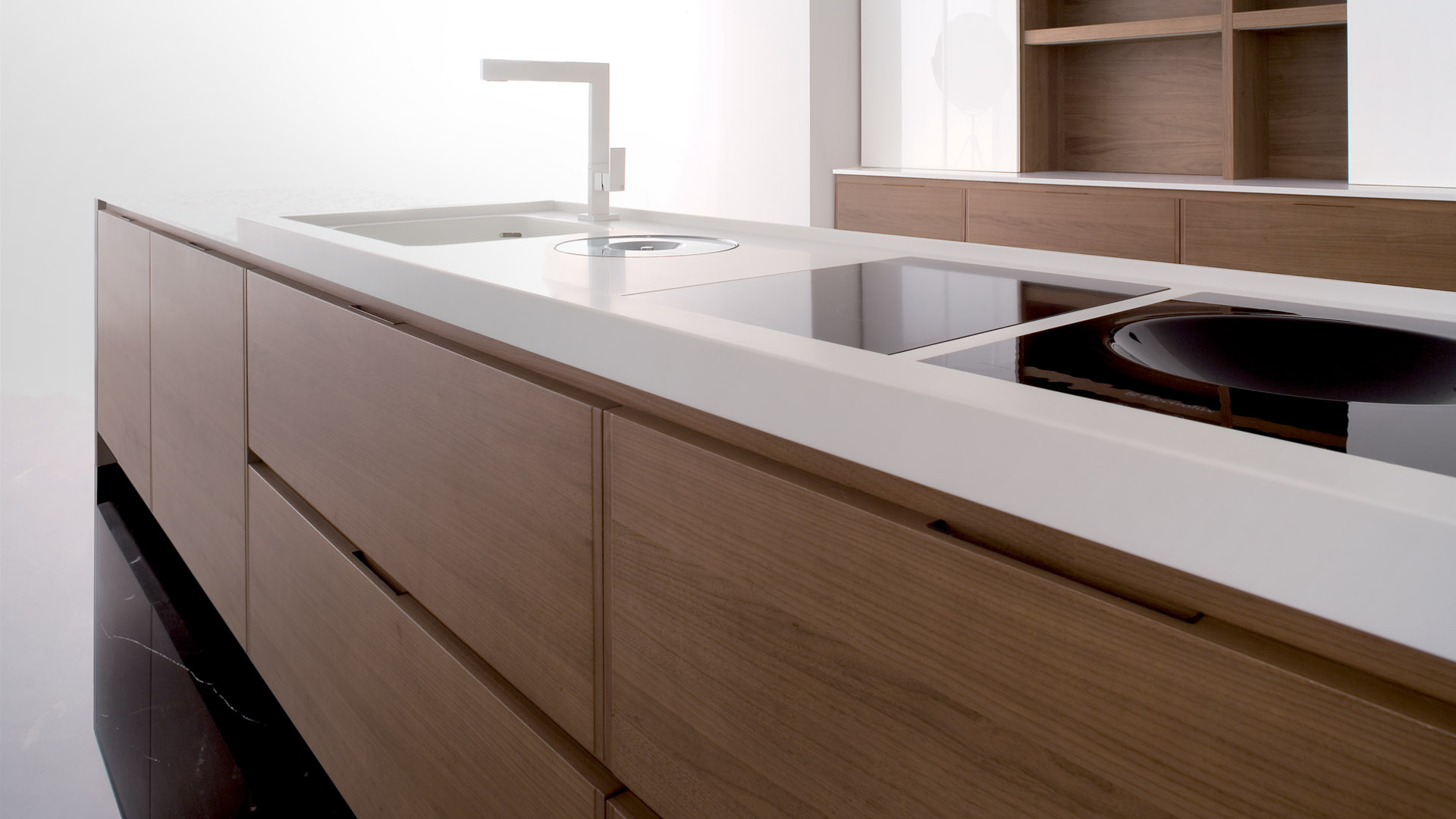 Corian pohaki lumber for Kitchen cabinet depth options