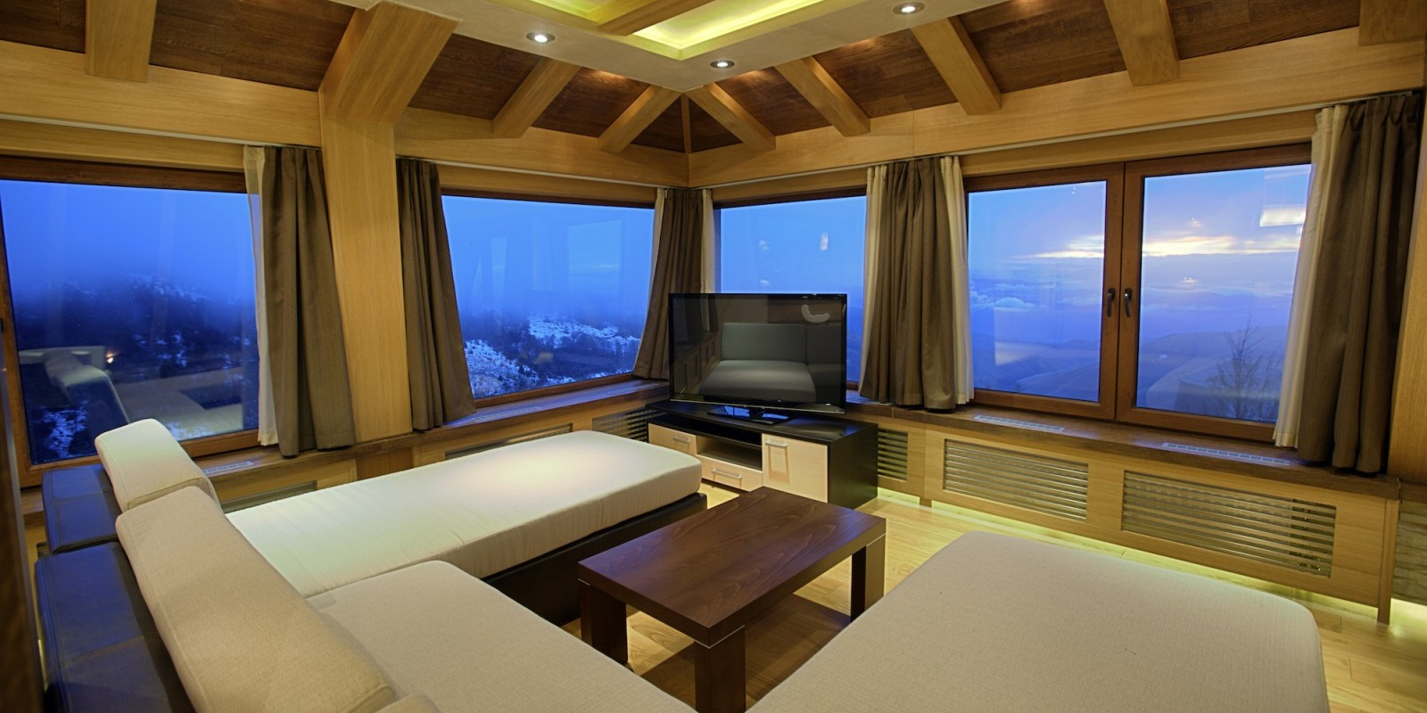 Family Room in Winter