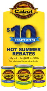 HOT SUMMER REBATES 7-24 - 8-7